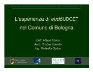 L'esperienza di ecoBUDGET nel Comune di Bologna - Agenda 21 ...