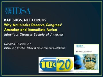 Bad Bugs no Drugs - Infectious Diseases Society of America