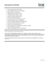 Berichte Zusammenfassung 2007/08