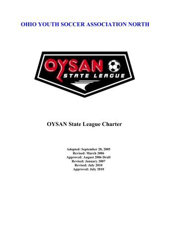 OHIO YOUTH SOCCER ASSOCIATION NORTH OYSAN State ...