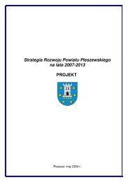 Strategia Rozwoju Powiatu Pleszewskiego na lata 2007-2013 ...