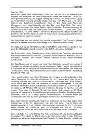 Embudu Sommer 2001 Herrliches Wetter beim ... - Welt unter Wasser