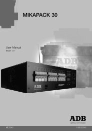 user manual mikapack... - ADB Lighting Technologies