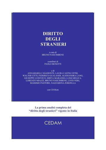 DIRITTO DEGLI STRANIERI CEDAM - Stranieri in Italia