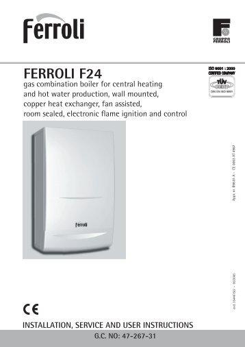 Ferroli f24 around town flats for Ferroli domicondens f24