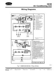 38CM Air Conditioning Unit Wiring Diagrams - Carrier