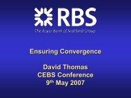 David Thomas - European Banking Authority