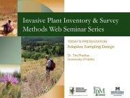 Adaptive Survey - Center for Invasive Plant Management