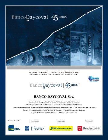 BANCO DAYCOVAL S.A. - Anbima