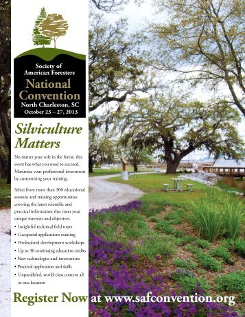Silviculture Matters - Society of American Foresters