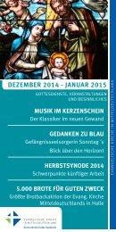 Programm des Evang. Kirchenkreises Halle-Saalkreis für Dezember 2014 - Januar 2015