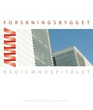 R adiumhospitalet F o R s KN i NG s BYGG et - Ous-research.no