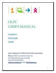 OLPC USER'S MANUAL - The OLPC Wiki - One Laptop per Child