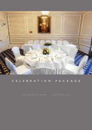 Opal Package (PDF download) – £62.50 per person - Beales Hotels