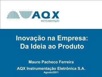 Inovação na Empresa: Da Ideia ao Produto - CINTEC/UFS