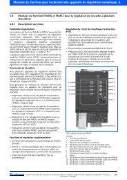 Modules de fonction pour l'extension des appareils de régulation ...