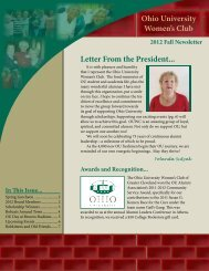 Fall 2012 - Ohio University Alumni Association