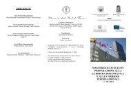 master di ii livello in preparazione alla carriera diplomatica e alle ...
