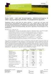 KONCERNREGNSKAB FOR 1. HALVÅR 2011 Første ... - Novozymes
