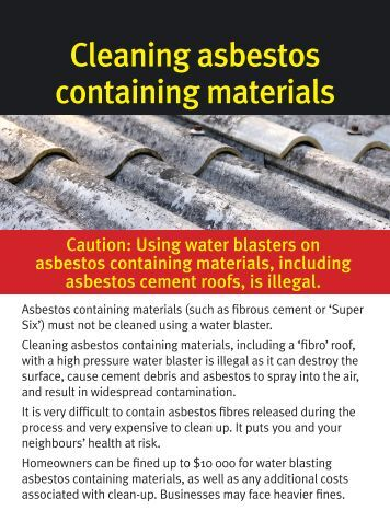 Cleaning asbestos cement roofs