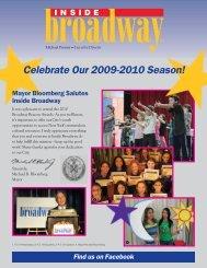 Celebrate Our 2009-2010 Season! - Inside Broadway