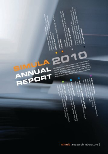 Annual Report 2010 - Simula Research Laboratory