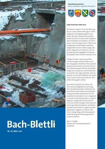Nr. 16, März 2011 - schwellenkorporationen.ch