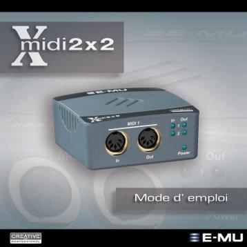 Xmidi 2x2 Manual - Univers-sons.com
