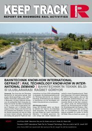NATIONAL DEMAND BAHNTECHNİK'İN TEKNİK B - Rhomberg Rail