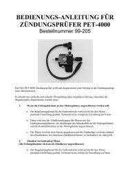 bedienungs-anleitung für zündungsprüfer pet-4000 - ratioparts