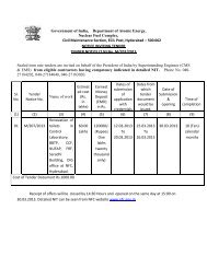 Tender Notice No. M/207/2013 - Nuclear Fuel Complex