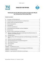 FAKULTÄT FÜR PHYSIK Studienplan für das Bachelorstudium ...