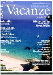 Dove Aprile 2011 Inserto International Edition Vacanze - Bologna ...
