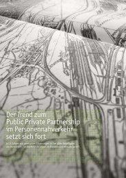 Der Trend zum Public Private Partnership im Personennahverkehr ...