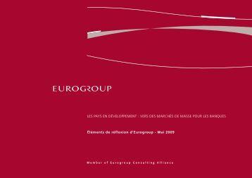 Les pays en déveLoppement - Eurogroup Consulting