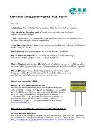 KLJB (Katholische Landjugendbewegung) Bayern e - (KLJB) Bayern