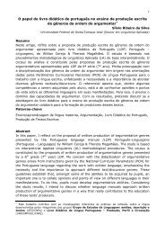 O papel do livro didático de português no ensino de produção ...