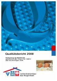Strukturierter Qualitätsbericht 2008 - Barmherzige Brüder von Maria ...