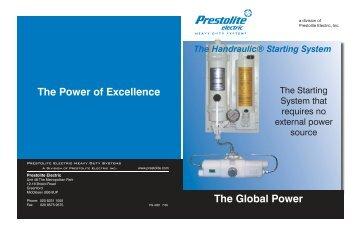 The Handraulic® Starting System - News - Prestolite Electric Inc.