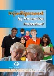 Brochure Vrijwilligerswerk bij Stichting Humanitas.