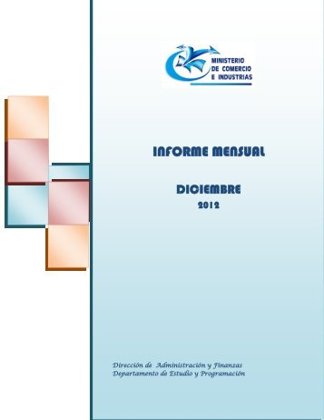 INFORME MENSUAL - Ministerio de Comercio e Industrias