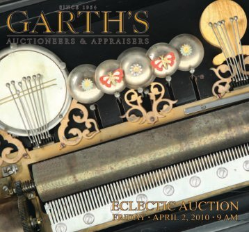 Garth's APRIL2010_brochure_Layout 1 - Garth's Auctions, Inc.
