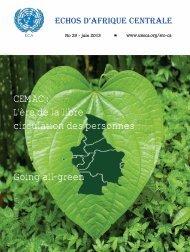 Echos d'Afrique Centrale N°29 – juin 2013 - United Nations ...