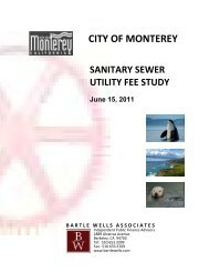 Sanitary Sewer Rate Utility Fee Study - City of Monterey
