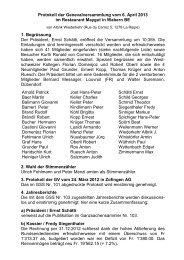 Protokoll der Genevalversammlung vom 6. April 2013 im Restaurant ...