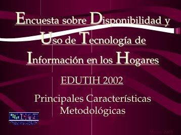 Encuesta sobre Disponibilidad y Uso de Tecnología de ... - Inegi
