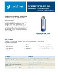FF, MF & SMF Ultradepth Coalescing Filter Elements - Donaldson ...
