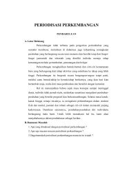 PERIODISASI PERKEMBANGAN - Guru Indonesia