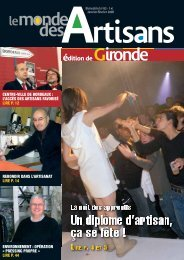 N°62 - Janvier - Février 2008 - Chambre de métiers et de l'artisanat