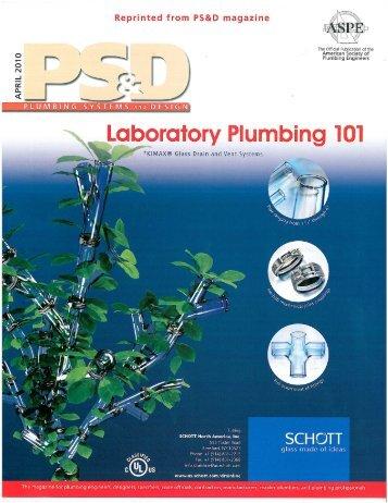 "April 2010 PS&D Magazine ""Plumbing 101"" - SCHOTT North America"